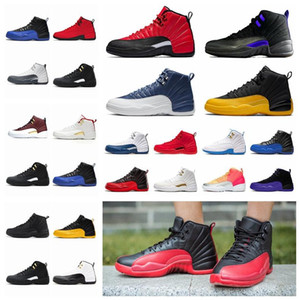 2021 Новые 12S FIBA 12 Обратные такси мужские Баскетбольные Обувь Колледж Флот Игра Royal Bordeaux Wntr МичиганAJ12 Wings спортивные кроссовки DA69 #