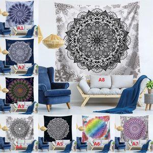 Mandala Wall Hanging Tapestry Mandala Shawl Bohemian Mandala Yoga Mat Tablecloth Polyester Tapestries Home Decor 150 *130cm