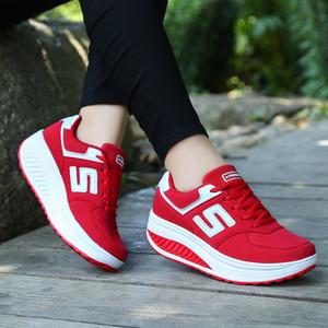 Las mujeres los zapatos de baile de encaje hasta zapatillas de deporte de color de mezcla zapatilla de deporte de los zapatos ocasionales respirables de fitness gimnasio diarios de los zapatos Z350