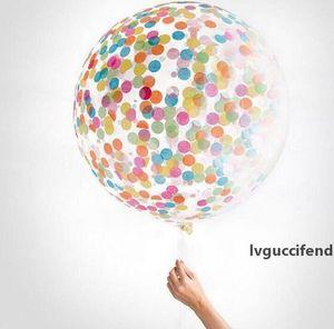 Konfeti Dolgulu Balonlar Helyum Kalite Parti Düğün Sevgililer Doğum Dekorasyon yuvarlak şeffaf balon Hen Dekor 36
