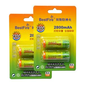 Batterfire Battery Ni-MH 1.2V 1100 / 2800MAH аккумуляторная аккумулятор AA набор для Gam Digital Camera Remote Control MP3 / MP4 Electric Shave