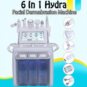 6in1 Hydra Facial Beauty Machine H2 O2 Aqua Water Hydro Dermabrasion Oxygen Jet Peel RF Bio 초음파 스킨 케어 장비