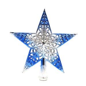 Árbol Top Estrellas de brillo Cuello Decoración de Navidad Adorno Treetop Topper Suministros de Navidad Árbol de Navidad Decoración DHL Envío gratis EWE2270