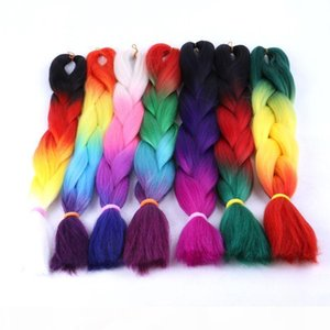 Wholesale Price many colors 24inch Synthetic jumbo hair braid 100g synthetic braiding hair