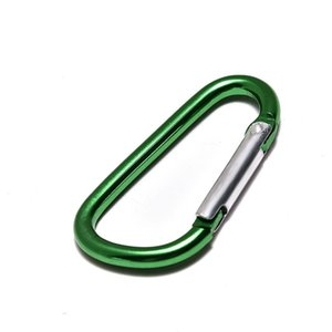 Carabiner Ring Keyrings KeyChains Outdoor Sports Camp Snap Clip Hook Keychain Hiking Aluminum Metal Convenient Hiking Camping Clip DHF2269