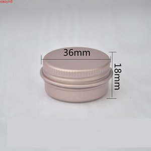 30pcs 10g Rose Gold Aluminum Tin Jar 10ml Lip Balm Container Empty Candle Jars Metal Containers Cream Pot Box ZKH82good product