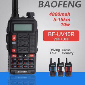 New Baofeng BF-UV10R 10W Walkie Talkie Non-slip Long Standby VHF UHF 128 Channels Two Way Radio Better Than UV 5R UV-82