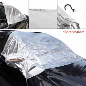 3L Auto Aluminum Foil Composite Cotton UV Ice Snow Protector Dustproof Car Clothing Cover With 4 Hook And Reflective Strip I8PM#