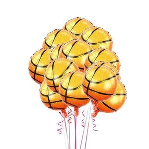 10pcs 18 İnç Basketbol Balonlar Dekoratif Alüminyum Folyo Spor Temalı Kutlama Mylar Balonlar Doğum Günü Partisi Balonlar wmtaoJ