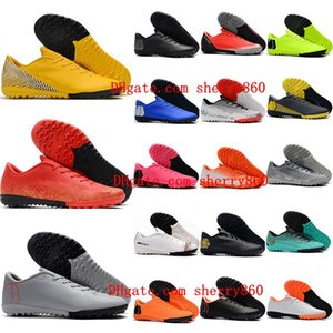 2020 high quality mens soccer shoes Mercurial VaporX XII Academy TF turf soccer cleats CR7 neymar ronaldo football boots da calcio hot