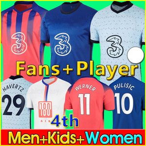 20 21 ABRAHAM Soccer Jersey WERNER ZIYECH 2020 2021 HAVERTZ PULISIC Football Shirt KANTE CHIILWELL Fans Player Version jerseys Men Kids Kit 4th fourth