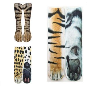 الجوارب القطنية الكبار الحيوان 3D باو سوك لطيف مضحك الحيوان الطباعة KAWAII عارضة مطاطا تنفس طاقم جوارب عالية جوارب الكاحل