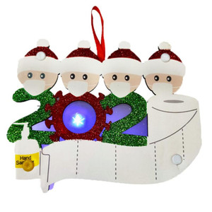 LED Ornements de Noël 2020 Pendentif en bois Cadeau Cadevivor Famille Maintenne de Noël Décoration de Noël Arbre de Noël Léger DWD2662