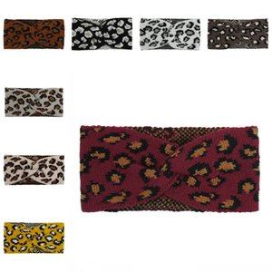 Knitting Elastic Turban Leopard Headband Cross Wide Hair Hoop Hair Band Headbands Headwear Fashion Hair Accessories for Women Girls L724FA