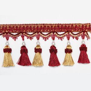 1 M Sac Tassel Rideau Fringe Décoratif Curnings Fringe Rideau Accessoires Dentelle Garniture de dentelle 1 m sac H bbypn