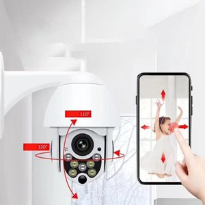 Cámaras Red WiFi Ball Cámara IP Seguimiento automático Wireless High Definiton PTZ Monitoreo impermeable1