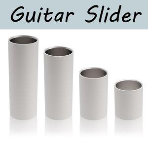 1 개 스틸 기타 활주 길이 28 50 60 70mm 스테인레스 슬라이더 에지 기타 손가락 슬라이더를 부드럽게