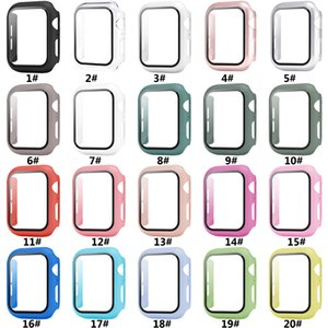 Best Quality iWatch PC Hard Case With Tempered Glass 38mm 42mm 40mm 44mm For Apple Watch Cover Full Screen Protector