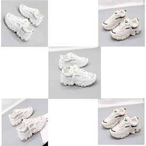 Petit Chrysanthème Sneakers Chaussures Femme 2020 Automne Ins Tout-match Tide Loisirs Run Time petit blanc Chaussures chaussures papa