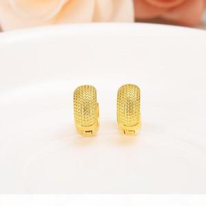 K 10k Pure Yellow Gold Gf Broadside Earring Real Italy Women &#039 ;S Flash Resplendent Girls Fashion Kids Children Jewelry