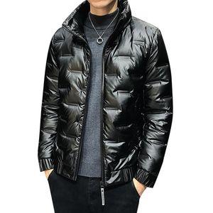 Mens Down Piumino Casual Style Duck Down Giabianchi Giacca leggera Cappotti di piume per uomo caldo inverno cappotto
