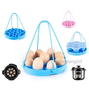 Silicone Egg Steamer Rack for Instant Pot Accessories, Pressure Cookers Sling Holds 9 Eggs for 5 6, 8 Quart MY-inf0475