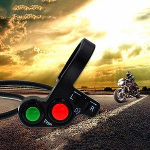 Botón 3x motocicleta bicicleta eléctrica vespa de la bici de la señal de luz Cuerno ON / OFF nxfA #