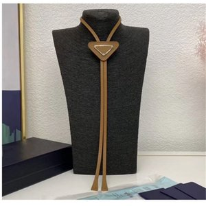 Fashion Ties Leather Neck Tie Bow For Men And Women Pattern Letters Neckwear Fur Solid Color Neckties