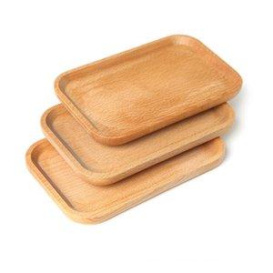 Piatto in legno Piatto Piatto Piatto Piatto Piatto Piatto Destert Dessert Biscotti Piatto Piatto Piatto Piatto Piatto Tea Server Vassoio Tazza di legno Supporto Bowl Pad Tableware Mat Sea DWC4700