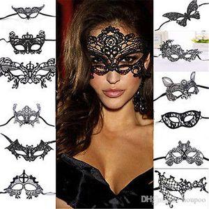 Mask Supplies-Ereignis-Party Halloween Halb Fertigkeit-Dekoration 26 Masquerade Masken Gesicht Entwürfe Geschenke Supplie Lace Christmas Party Decor Prrlh