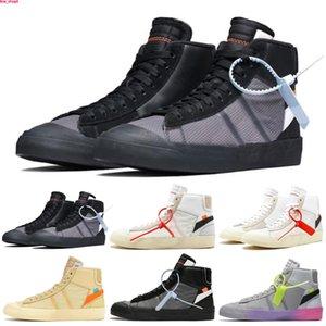 Nike Blazer The Ten OW الجملة البرتقالي أبيض أسود السترة MID Reepers قاتمة الاحذية مخيف حزمة الشريط Cavans THE TEN PRESTRO أحذية