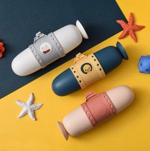 Подводная лодка зубные коробки путешествия зубная щетка для хранения коробки организация портативное мытье чашки милая пара зубной коробки набор YL1027