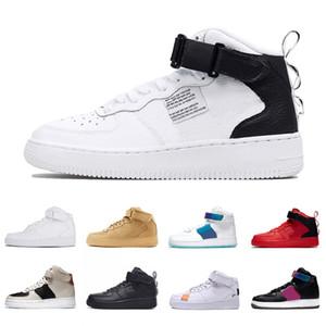 Nike Air Force 1 af1 2021 Dunk Utility OG High Fashion Plattform Männer Frauen Laufschuhe nur rot haben ein gutes Spiel dreifach schwarz weiß Turnschuhe Sportschuhe