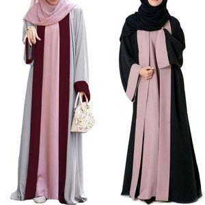 Dubai Muslim Women Long Sleeve Open Cardigan Maxi Dress Kimono Abaya Kaftan Jilbab Party Arab Gown Islamic Robe Ramadan Clothing