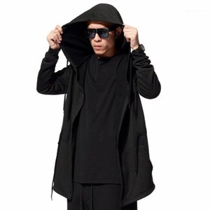 Tamaño asesino capucha para hombre de manga larga primavera Punk Negro fina capa Streetwear hombres Ropa de EE.UU. Hoodies de los hombres Sudaderas XXXL hd0