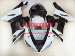 Cowling Injection mold body kits for white and black KAWASAKI Ninja ZX6R 636 05 06 ZX 6R 2005 2006 zx6r Fairings kit +5gifts bodywork