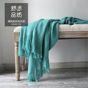 130X200CM nórdica cachemira manta suave estupenda invierno cama de cama caliente suave edredón de algodón de ganchillo Sofá Cover Manta fuentes de la cama QVO6 #