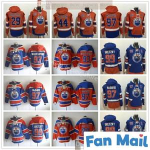 Edmonton Oillers Хоккей Толстовки 97 Коннор McDavid 99 Уэйн Гретцкий 93 Райан Nugent-Hobkins 44 Zack Kassian 29 Леон Draisaitl