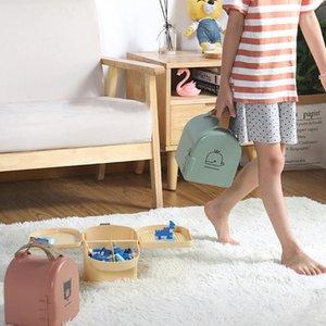 Home Portable Toy Storage Box Sundries Storage Children's Toys Snacks Organize Storage Carrying Children's Toys Outdoor C0116