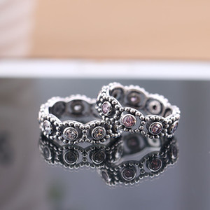 Genuine 925 sterling Silver Her Majesty CZ Ring Compatible For Women Engagement Wedding Gift Europe Jewelry 201112