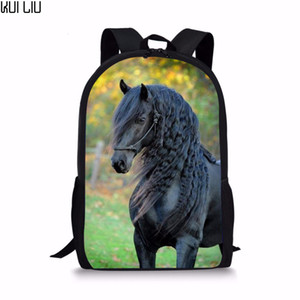 Customized Online Star Handsome Horse School Bag for Teen Girls Primary Kids Back Pack Tumblr Notebook Satchel mochila infantil Q1109
