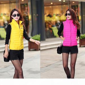 Mais tamanho 11 cores moda outono inverno casaco mulheres senhoras gilet colete feminino casual waistcoat jaqueta sem mangas feminina 38f