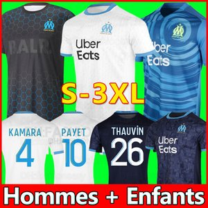 Olympique de Marseille Maillot de foot 2020 2021 Maillot OM Maillot Foot PAYET THAUVIN BENEDETTO 20 21 maillot marseille maillots de football soccer jersey Homme Enfant Kit