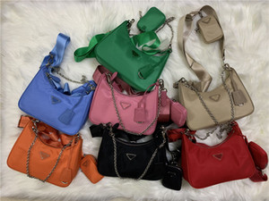 Vente chaude 7 couleurs 2005 TROIS PIÈCE SET SACS DE FEMMES NOUVEAU NYLON NYLON Sacs à main occasionnels Fashion Femme Messenger Sacs à bandoulière Dames Croix Cross Cody C