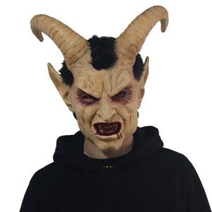 Horreur diable Lucifer Klaxon Masque Cosplay Sheep Scary démon Corne Masques Latex Halloween de partie de mascarade Props Costume 1007