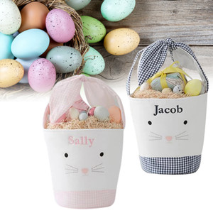 4 Styles New Arrival Easter Cartoon Bunny Bucket Kids Cute Gifts Easter Festival Candy Egg Basket Toy Tote Storage Bag Easter Decoration
