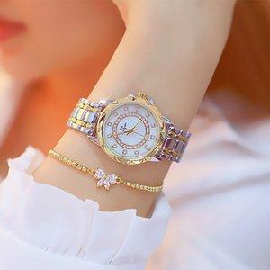 Luxo Marca Diamante Mulheres Assista Strass elegante senhoras relógios de ouro relógios de pulso para mulheres relogio feminino com caixa de presente