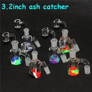 hot 14mm 18mm Reclaim Catcher Adapter Ashcatcher Glass Ash Catcher Percolator for Bong Water Pipes 4mm quartz banger 7ml silicone containers