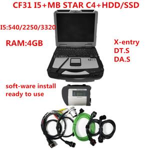 ميغابايت نجمة SD ربط C4 مع أحدث لينة وير 2020.09 أداة تشخيصية ميغابايت نجمة C4 ve.diamo / X-دخول / DT.S مع CF31 أجهزة الكمبيوتر المحمول
