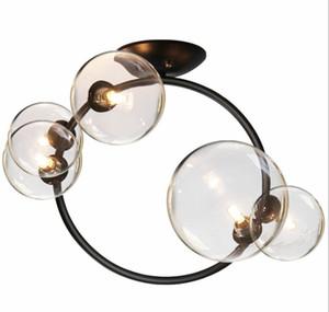 Işık Fikstür Asma 5 Clear Glass LED Kolye Işıklar Koridor Işık Yatak Odası Yemek odası Sarkıt 110 / 220V Nordic Ev